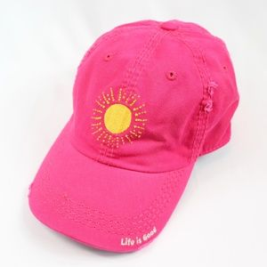 Life Is Good Accessories - Life Is Good Women's Pink Sun Baseball Hat